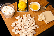 Chicken Wonton prep board