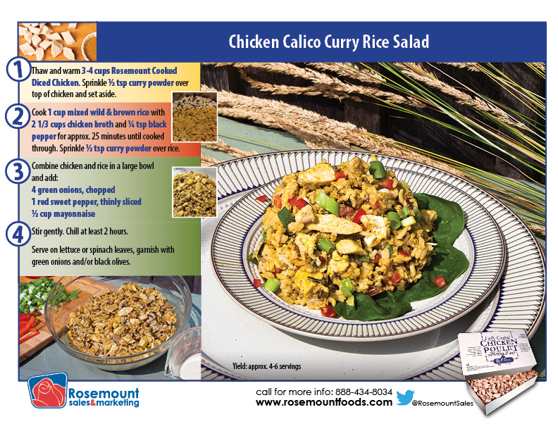 Tutorial card - Calico Chicken Salad