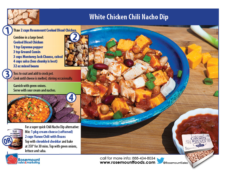 Tutorial card - Chicken Chili Nacho Dip