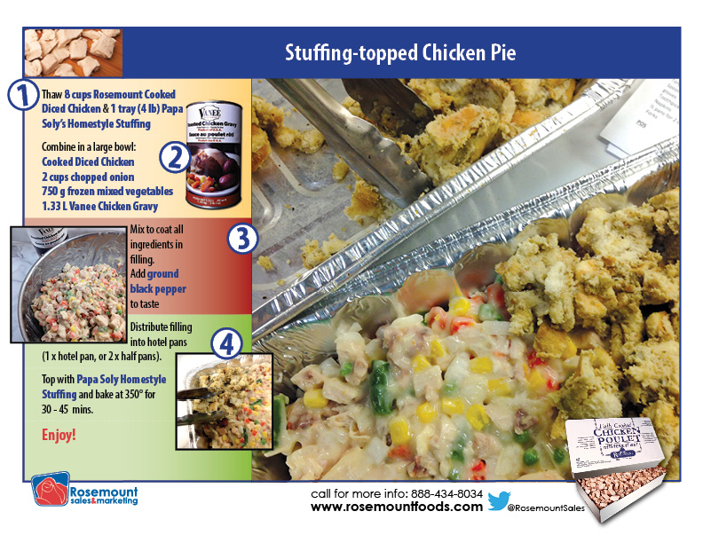 Tutorial card - Stuffing Chicken Pie